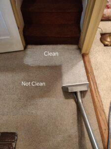 Dirty/Clean carpet comparison